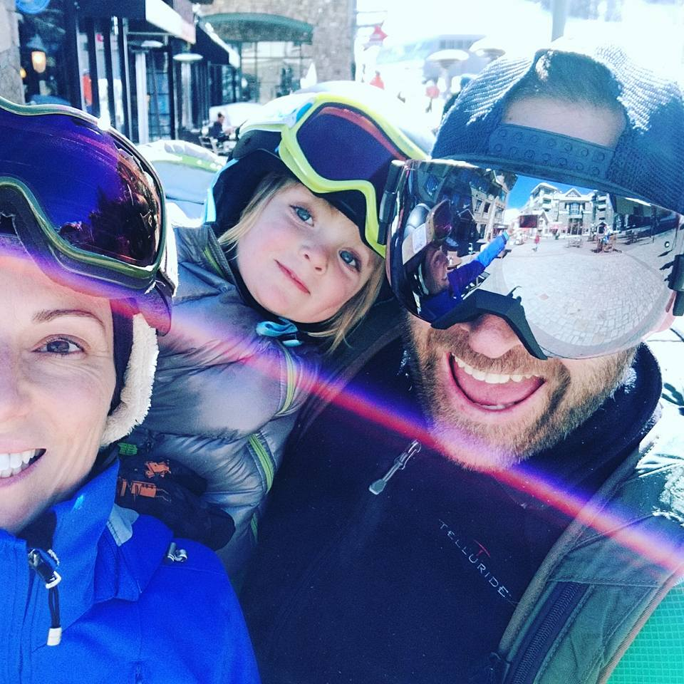 Louise Decelis and Dominic Byrne Skiing in Telluride