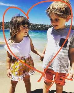 Noah and Evie Byrne at Balmoral Beach Sydney