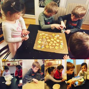 Noah and Evie Byrne Making German Christmas Cookies