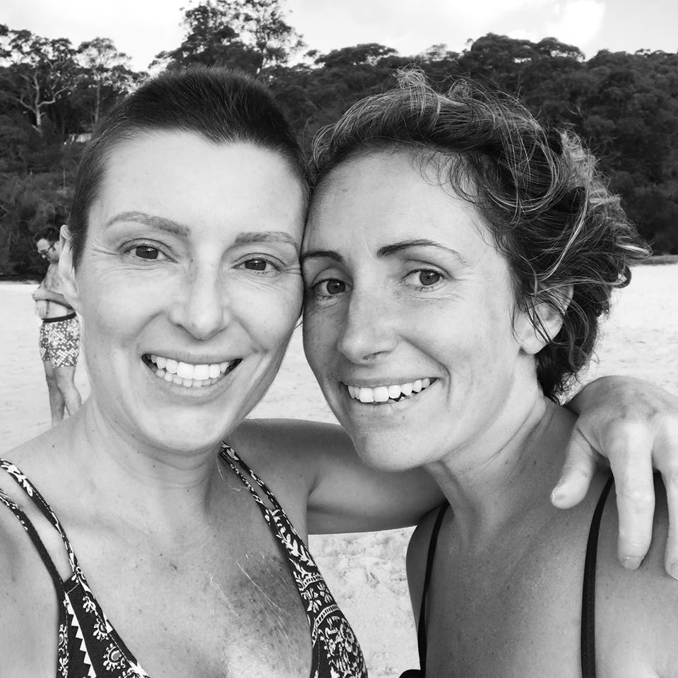 Louise DeCelis and Elysia McConkey at balmoral beach