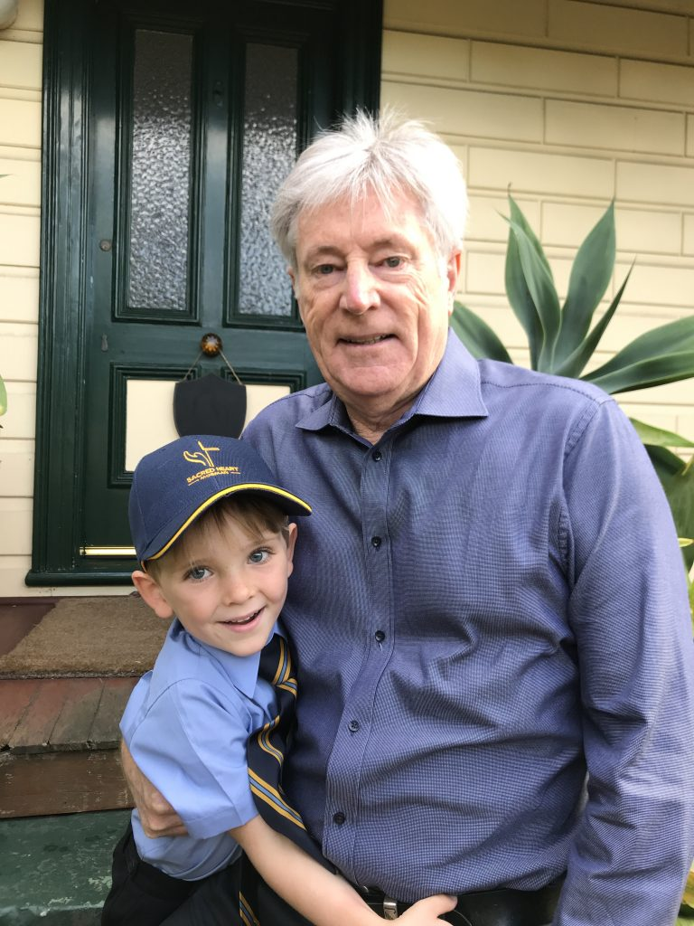 Noah Byrne with Grandpa
