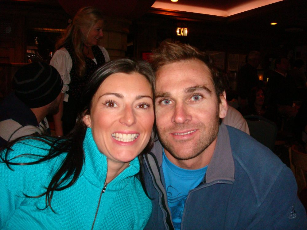 Louise and Dom on another ski holiday