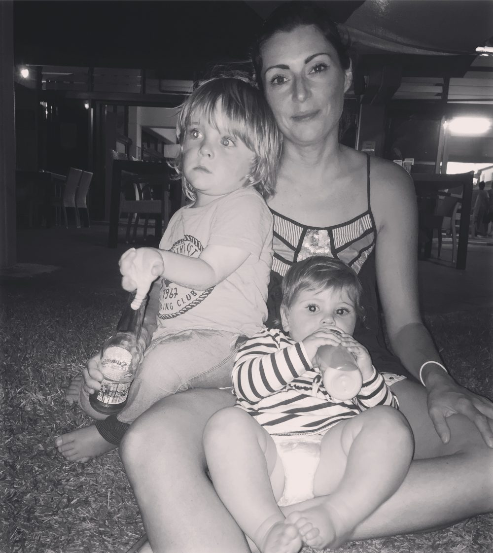 Magnetic Island Family Snap Louise DeCelis With Noah and Evie