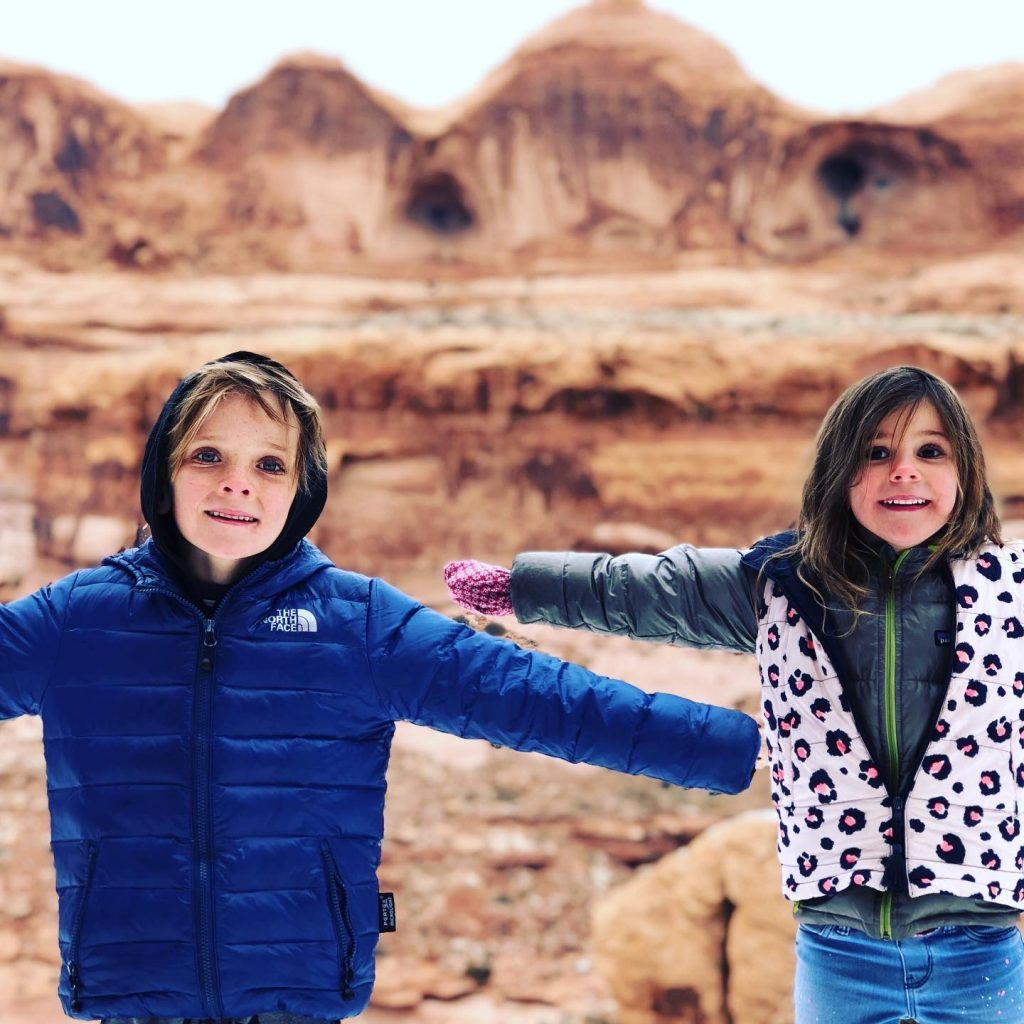 Evie and Noah Byrne MOAB Utah