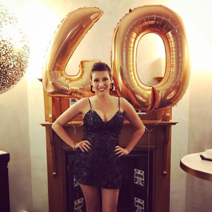 Louise DeCelis at her 40th 2018