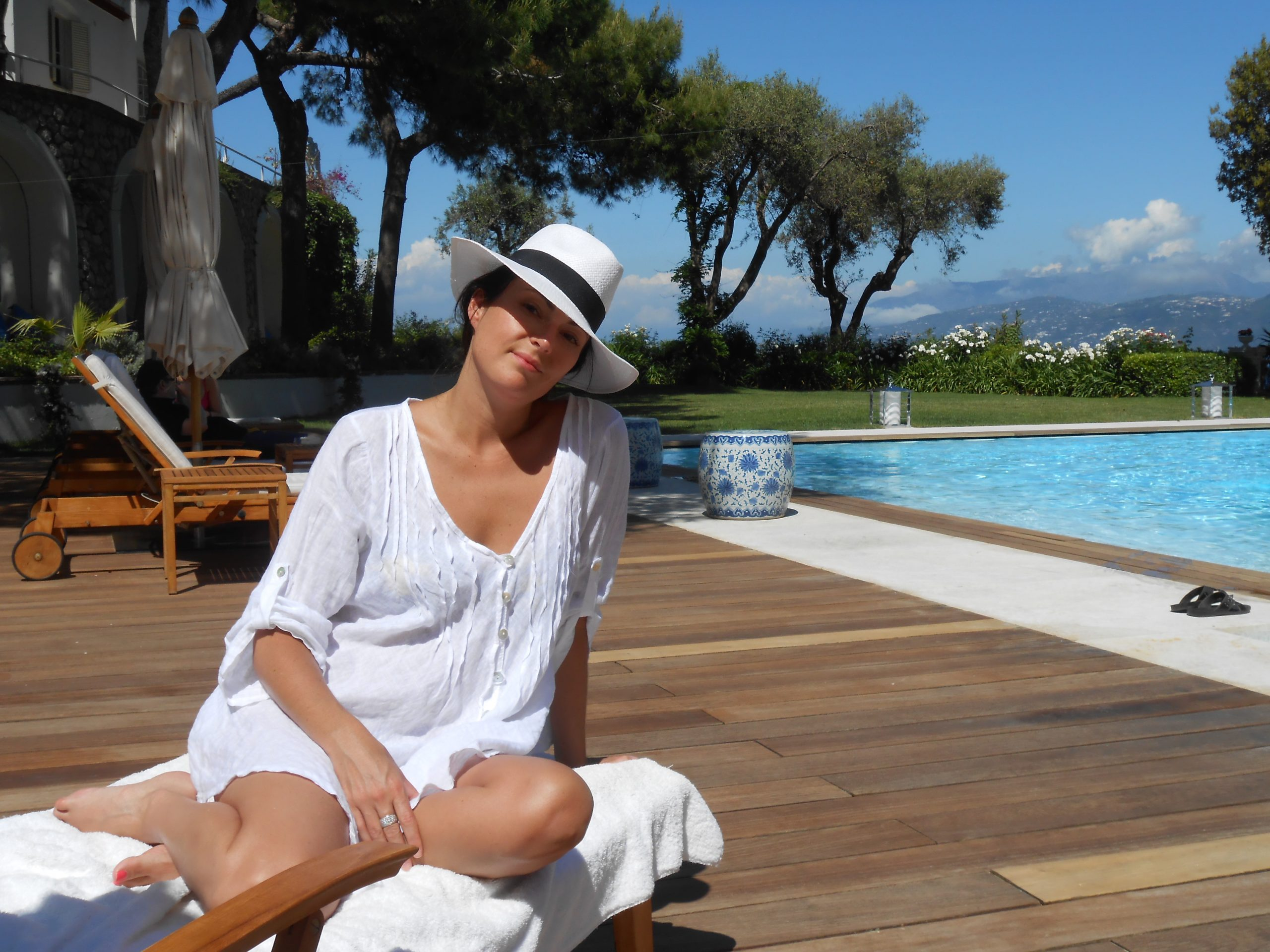 Louise DeCelis on her honeymoon in Capri